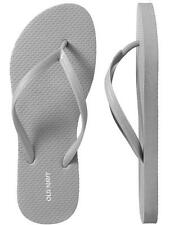 NWT Ladies FLIP FLOPS Old Navy Thong Sandals SIZE 7,8,9,10,11 SILVER Shoes
