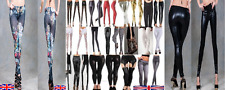 LEGGINGS & JEGGINGS WET LOOK GOTH PUNK ROCK HORROR HALLOWEEN ADULT TEEN  UK 8-12