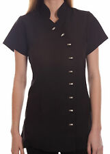 Salon Spa Beauty Beautician Hairdressers Nails Therapist Uniform Tunic Black LMM