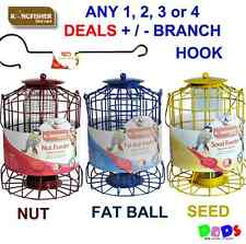 Squirrel guard bird feeders seed nut fat ball feeder hanging hooks package deal