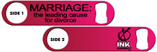 Bartender Bottle Opener: Marriage + Add Name or Text FREE!