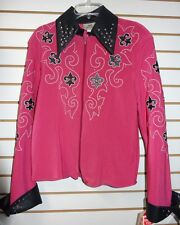 NEW 1849 Ranchwear Pink with Fleur-de-lis Horse Showmanship Jacket: M, L