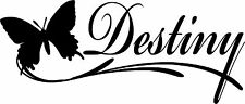 Destiny Name Butterfly Sticker Decal 4 Laptop Car Window Wall Game Console Wall