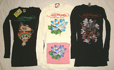 ED HARDY Christian Audigier LONG SLEEVE SHIRT Flower Eagle Pirate T-SHIRT TOP