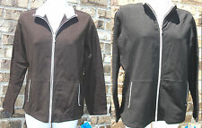 NWT Genuine STYLE & CO SPORT black or brown with white trim zip jacket,PM/PS