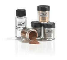 MEHRON METALLIC POWDER WITH MIXING LIQUID GOLD SILVER THEATRICAL STAGE MAKEUP