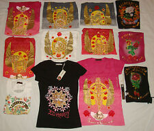 Christian Audigier ED HARDY SHIRT Zodiac Sign TIGER Black White Red PACO CHICANO
