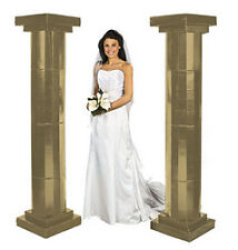 Pair of GOLD Pillars OR White Archway Wedding Ceremony Decoration Aisle Runner