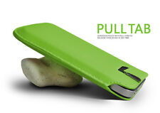 Green Pull Tab PU Leather Case Cover Pouch Slide In Sleeve
