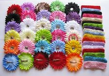 Wholesale lots hair accessory baby girl Crochet Headbands & Daisy flower clips