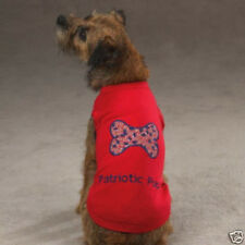 Casual Canine PATRIOTIC PUP Dog Tee Shirt SHOW YOUR AMERICAN PRIDE  SALE!
