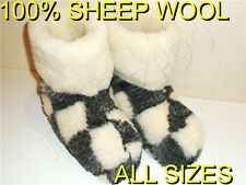 MEN'S SHEEPSKIN VERITABLE SLIPPERS FELT BOOTS WOOL RUSSIAN VALENKI