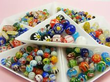 MILLEFIORI Glass Round / CUBE / Oval BEADS 4mm 6mm 8mm 10mm ~Loose Assorted~