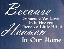 HEAVEN IN OUR HOME Bedroom/Kitchen/Room/Cupboard/Door/Wall Art Sticker - Small