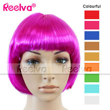 REELVA Ladies Women's Cosplay Short BOBO Wigs Fancy Dress Wig Ladies Hair