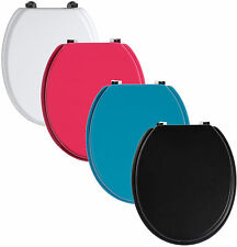 New Coloured Bathroom Accessories Wooden Toilet Seat With Zinc Alloy Fixings