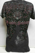 XTREME COUTURE THE NATURAL T-SHIRT WOMEN KNIT TOP SLIM FIT BY AFFLICTION NEW