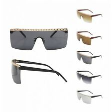 Lady Gaga Style Sqaure Flat Top Decorated Sunglasses Asst B4
