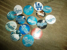 Pre CUT LA DODGERS TEAMS One Inch Bottle Cap Images!  Free Shipping