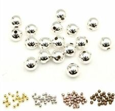 50-100pcs Fashion Copper/Silver/Golden Plated Seamless Round Spacer Beads 6/8mm