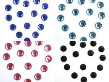 100/200pcs Crystal 4MM/6MM/8MM Flat Back Acrylic Rhinestones 10Colors Wholesale