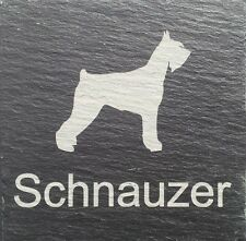 Beware Of The Schnauzer Natural Slate Dog  Sign Plaque Sign 11 Designs