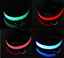 LED FLASHING DOG PET COLLAR LED DOG LEAD BRIGHT TAG PET LIGHT FLASHING LED
