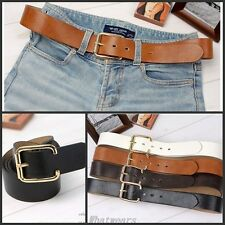 Sho Classic Unisex Casual Square Buckle Belt Waistband Strap F9030