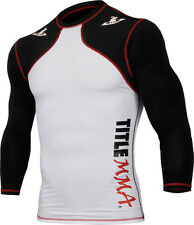 TITLE MMA Quad-Flex Reaper Long Sleeve Rash Guard Black grappling bjj boxing