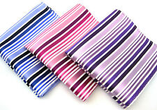 """100% Silk pocket squares, bold stripers, 10"""", rich coloration, good quality!!!"""