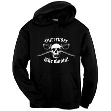 Surrender The Booty Skull Pirate Pullover Hoodie Sweatshirt Size S - 3XL Black