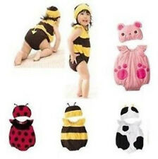 Baby Kids Toddlers Cute Cow Bee Ladybug Bear Party Costume Romper Prop set
