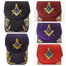 Master Mason with Gold Trim Hat Cap Embroidered in the USA 883RY