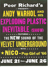 VELVET UNDERGROUND  T-SHIRT. Lou Reed, John Cale, Nico, Andy Warhol.