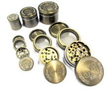 DRY HERB SPICE GRINDER 4 PART CNC ALUMINIUM POLLINATOR MAGNETIC 2 GIFT