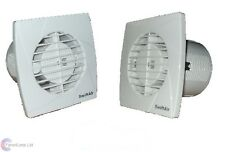 "SA100S  Standard Models Toilet Extractor Bathroom Fan LOW PROFILE 4"" 100mm"