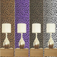 LEOPARD TIGER ZEBRA PRINT LUXURY WALLPAPER JUNGLE ANIMAL PRINT 10M ROLL 4 DESIGN
