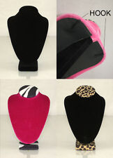 "8"" Hard Jewelry Necklace Chain Pendant Display Stand Holder 2 Hook Velvet"