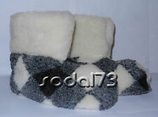 SHEEP WOOL SLIPPERS BOOTS 100% PURE WOOL VALENKI warm sheepskin US WOMEN'S