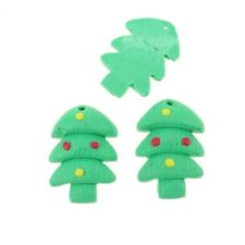 Fimo Christmas Tree Charm With Decorations 17x25mm Crafts and jewellery making