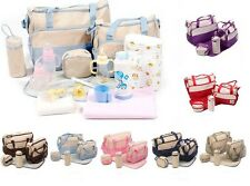 5pcs Multi-Function Baby Diaper Nappy Bag/ Mummy Changing Set Handbag.
