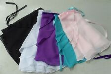 New Girls  5color Chiffon Ballet Leotard Tutu Wrap Scarf Skirt Dance Skate Dress