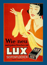 Fashion Lady Girl Lux Soap Detergent Washing Clothes Vintage Poster Repo FREE SH