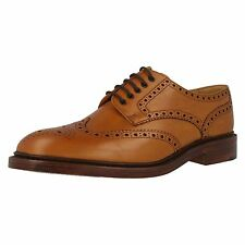 MENS LOAKES TAN BURNISHED  CALF LEATHER LACE UP SHOE (CHESTER 2 ) IN F WIDTH