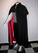 CLOAK VICTORIAN MEN'S Formal Opera Cape LINING Black Red Gold Wine S to XL