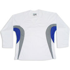 White/Gray/Royal Hockey Jersey!  DRY FIT EDGE INSPIRED DJ200