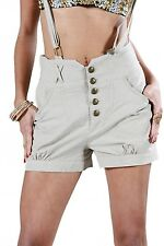 AFTERPINK NEW SEXY SUSPENDER COTTON PANTS PARTY CUBIC MINI SHORTS CLUBWEAR
