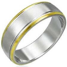 Personalized Stainless Steel 2-Tone Matt Finished Ring - Free Engraving