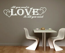LOVE ...WALL ART DECAL STICKERS VINYL ROOM BEDROOM LIVING ROOM CHRISTMAS GIFT