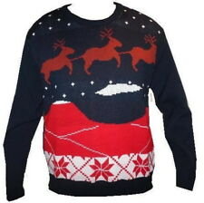 CHRISTMAS XMAS JUMPER SWEATER SNOWMAN REINDEER SANTA LADIES MENS =S M L XL XXL